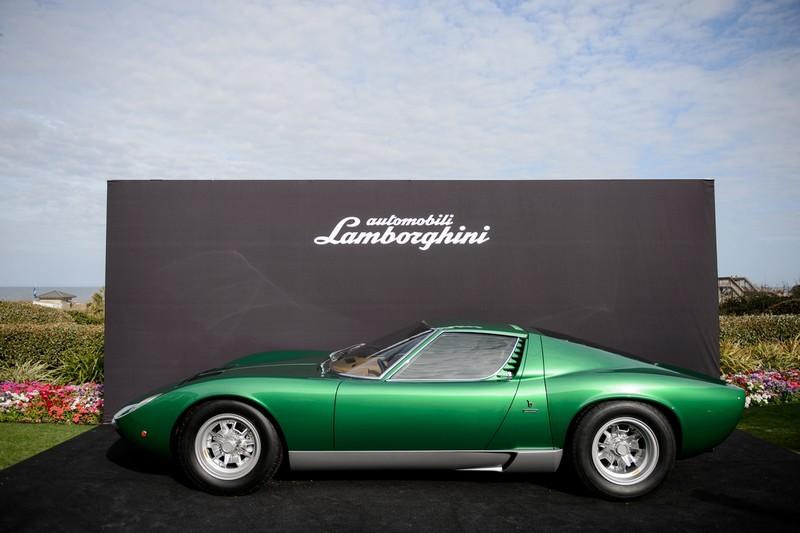 Lamborghini restored the original Miura SV to celebrate Miura 50th anniversary at The Amelia Island Concours d'Elegance-