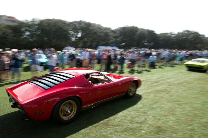 Lamborghini restored the original Miura SV to celebrate Miura 50th anniversary at The Amelia Island Concours d'Elegance 2016