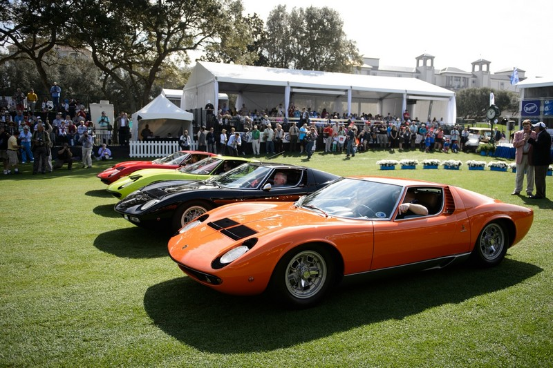 Lamborghini restored the original Miura SV to celebrate Miura 50th anniversary at The Amelia Island Concours d'Elegance