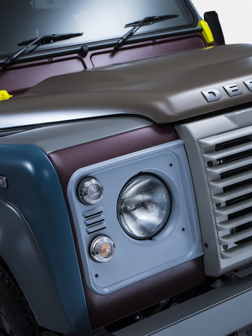 Land Rover's tailor-made Defender for Paul Smith-2015  -details