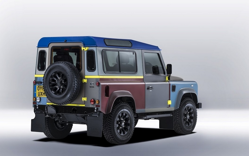 Land Rover's tailor-made Defender for Paul Smith-2015-rear