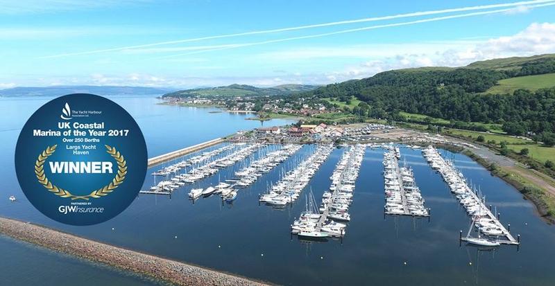 Largs Yacht Haven Marina - UK Coastal Marina of the Year 2017 over 250 berths-