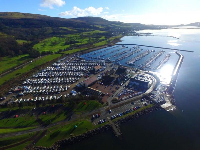 Largs Yacht Haven Marina - aerial UK Coastal Marina of the Year 2017 over 250 berths