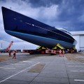 Launch P85 -85-meter Tripp Design luxury sailing yacht launched by Oceanco and Vitters Shipyard