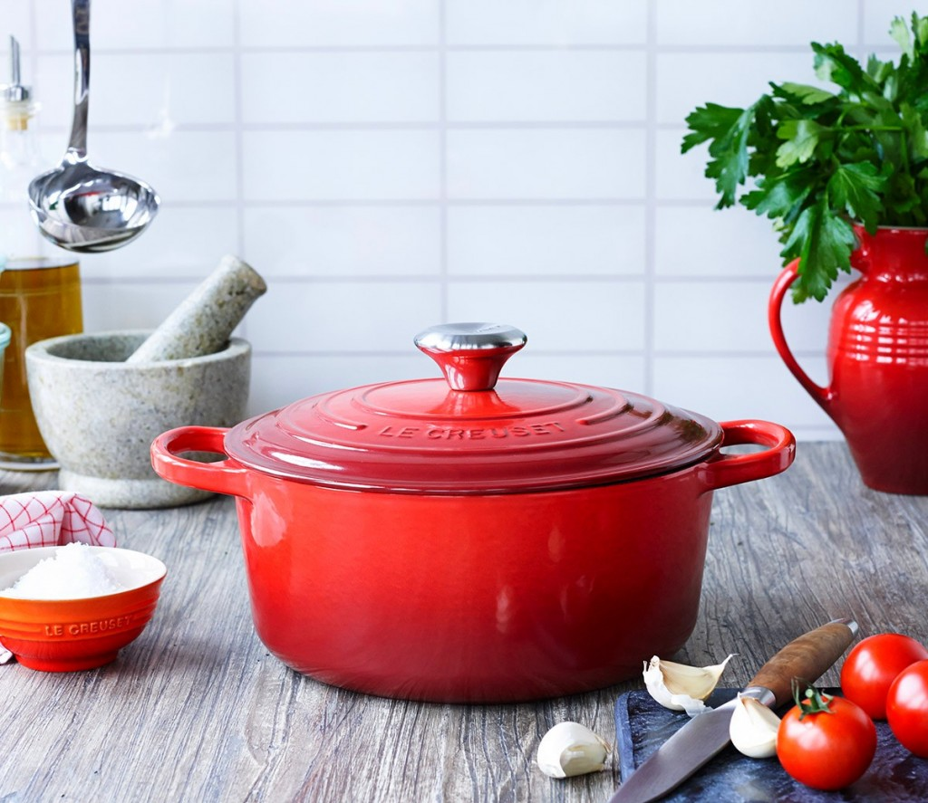 Le Creuset's replica of the very first French oven, or cocotte