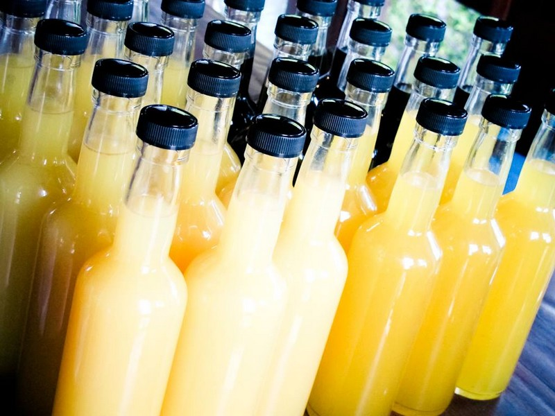 Limoncello bottles artisanal GardaLago