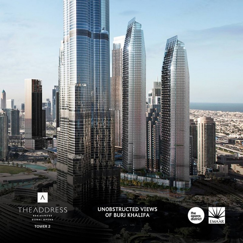 Live footsteps away from Burj Khalifa at The Address Residences Dubai Opera