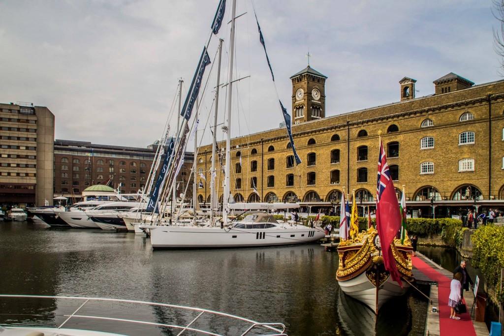 London Yacht Jet & Prestige Car Show 2015-at St Katharine Docks.