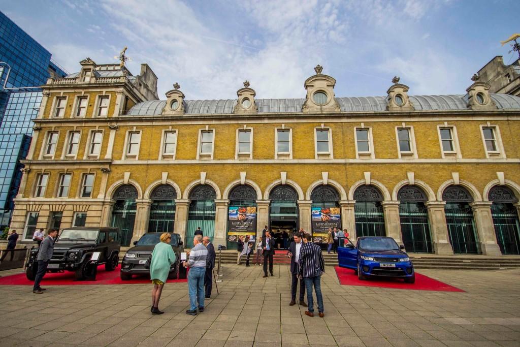 London Yacht Jet & Prestige Car Show 2015-the entrance