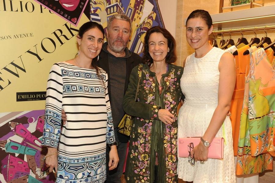 Lorenza Luti, Philippe Starck ,Laudomia Pucci, Jasmine Abdellatif Starck