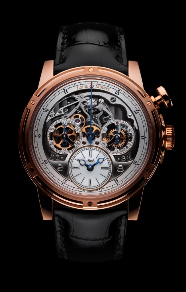 Louis Moinet Memoris 2015 model - the first chronograph-watch in watchmaking history
