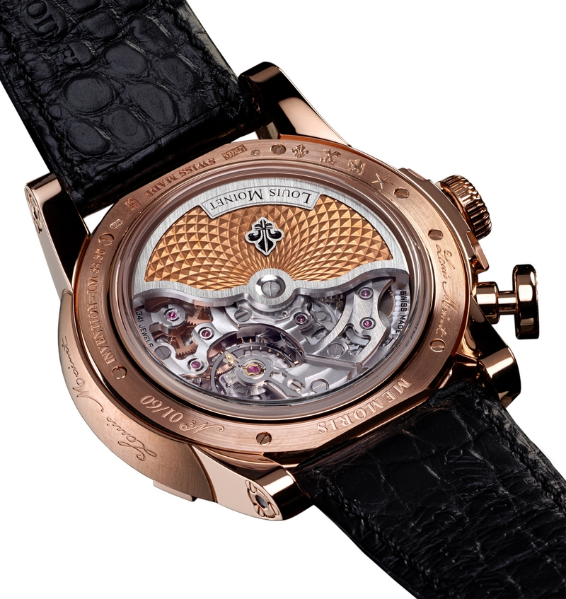 Louis Moinet Memoris back - watch - the first chronograph-watch in watchmaking history