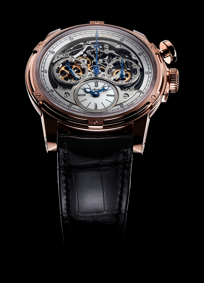 Louis Moinet Memoris watch 2015 - the first chronograph-watch in watchmaking history