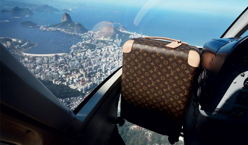 Louis Vuitton rolling trunks
