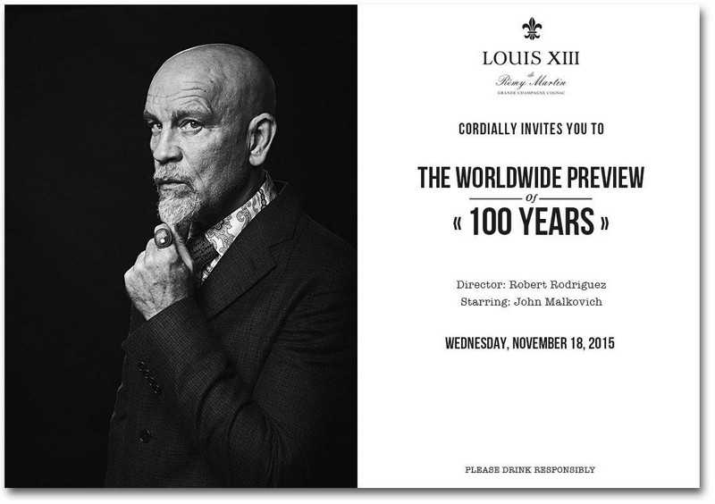Louis XII John Malkovich 100 years movie invitation