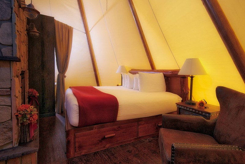 Luxe Teepees at Westgate River Ranch Resort & Rodeo in River Ranch-2016-the bed