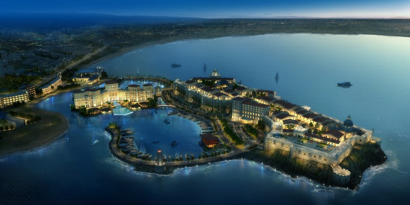 MLD Cabo Verde Resorts-Birdseye View looking from the South