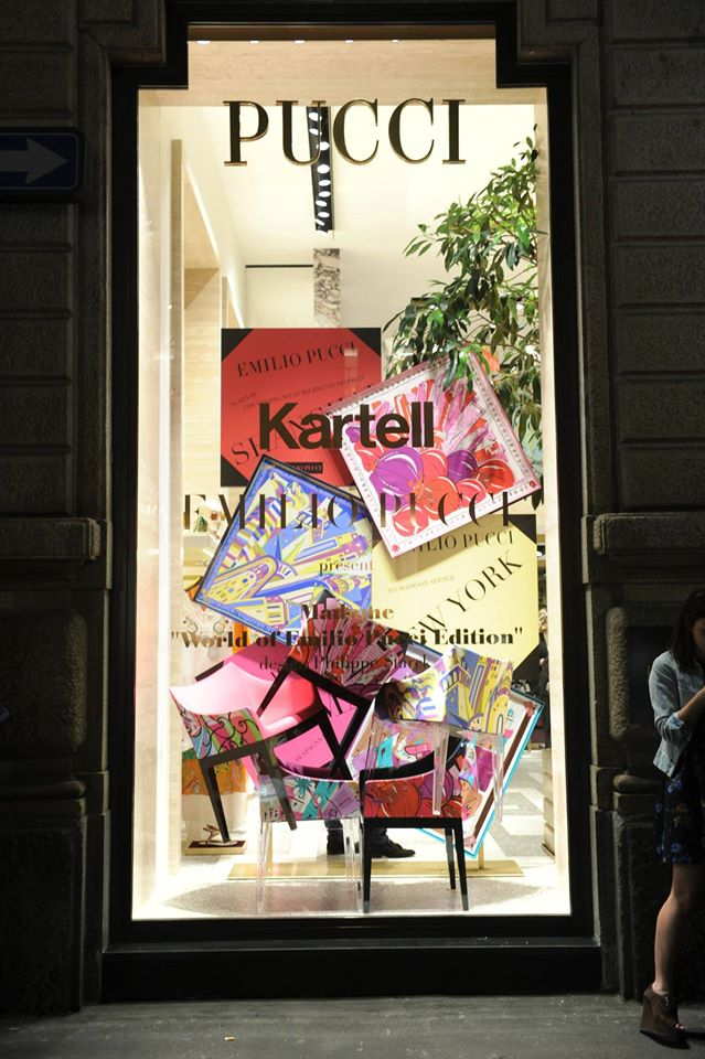 Madame - World of Emilio Pucci designed by Philippe Starck window in Milan