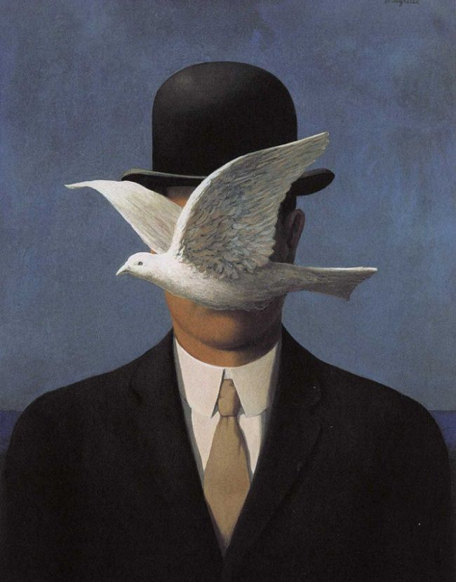 Man in a Bowler Hat, 1964 by Rene Magritte