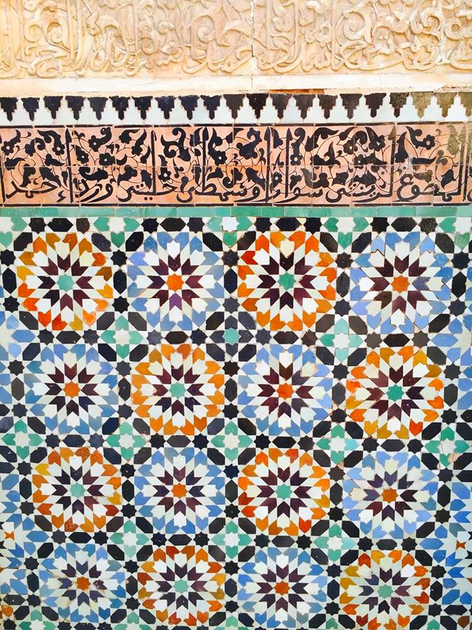Mandarin Oriental Marrakech- The word zellige means little polished stone in Arabic
