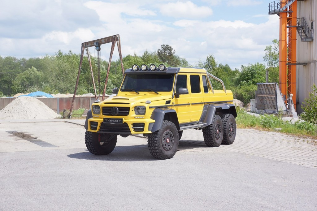 Mansory Extends Customisation Programme to Mercedes-Benz AMG 6x6- -