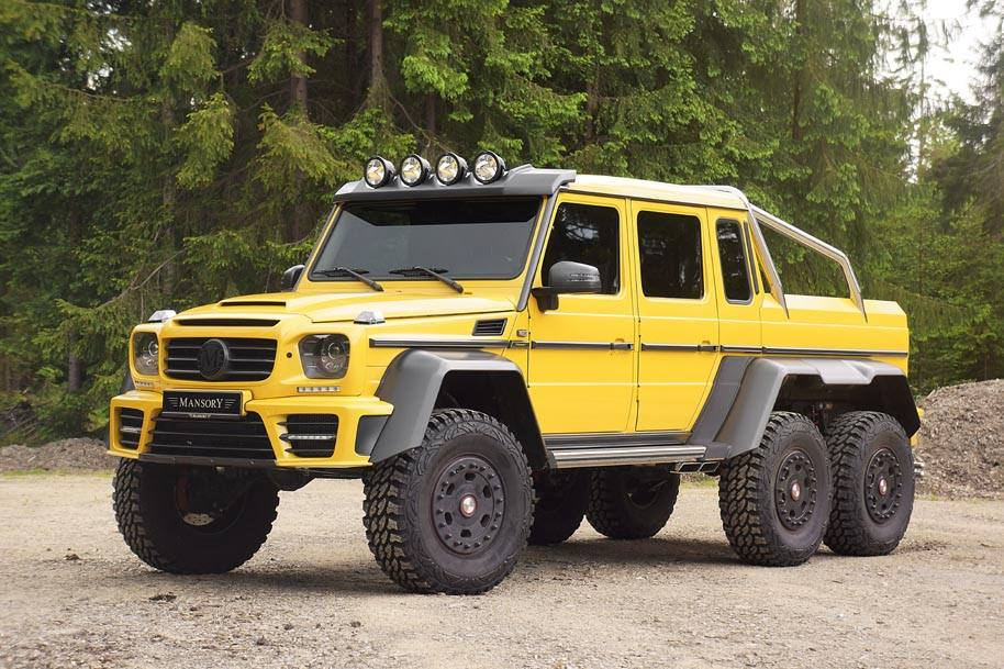 Mansory Extends Customisation Programme to Mercedes-Benz AMG 6x6-lateral