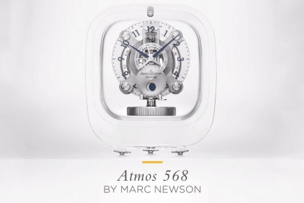 Lights on Jaeger-LeCoultre's latest collaboration with the Atmos 568 designed by Marc Newson