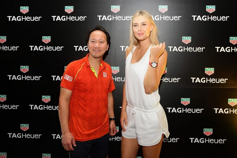 Maria Sharapova and Michael Chang for Tag Heuer 2015