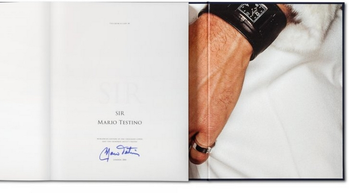 Mario Testino Sir Book - interior