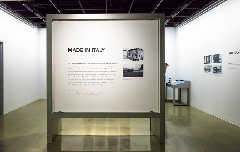 Maserati Made in Italy - Design to Line at the Petersen Automotive Museum Los Angeles