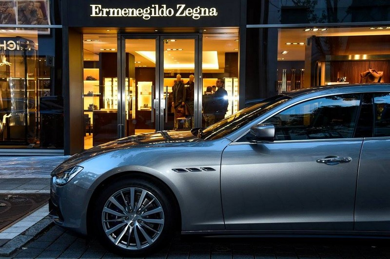 Maserati x Ermenegildo Zegna 2015 capsule collection in the Frankfurt Store
