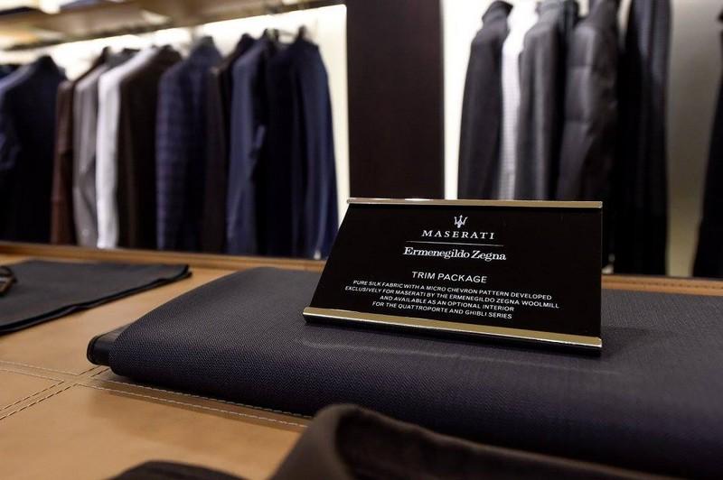 Maserati x Zegna wardrobe 2015 capsule collection in the Frankfurt Store-