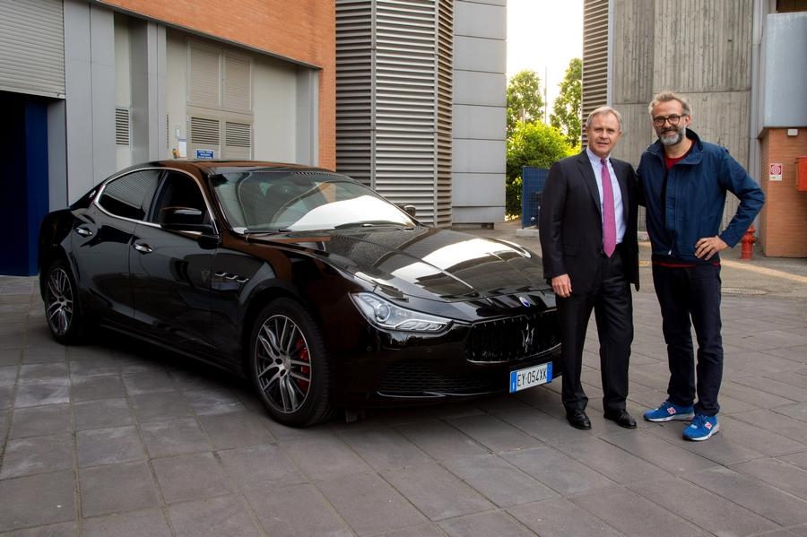 Massimo Bottura gets his new Maserati Ghibli S Q4-Maserati_Massimo Bottura-3 Michlin stars-and Harald Wester-Maserati CEO