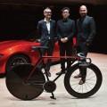 Mazda Kodo Design's bike and sofa at Milan Design Week