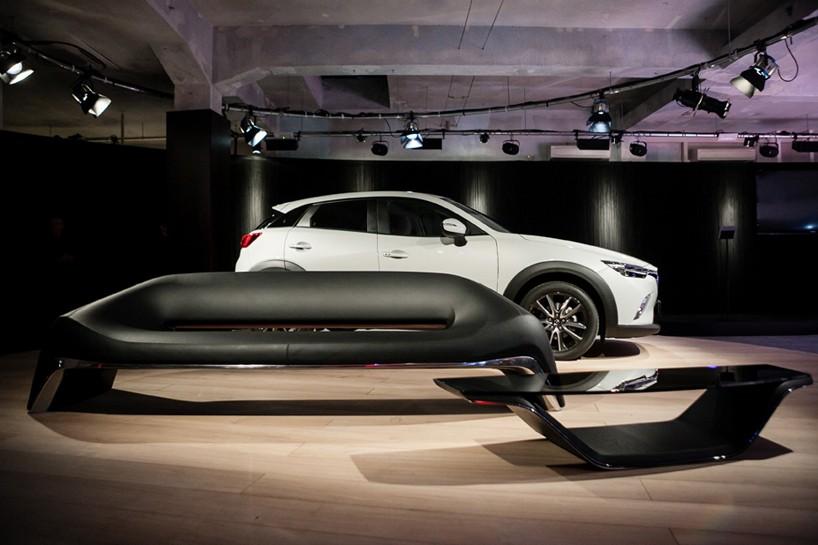 Mazda Kodo Design's bike and sofa at Milan Design Week 2015-fuorisaloni