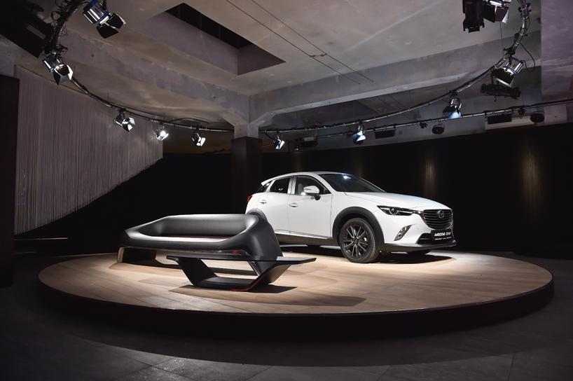 Mazda Kodo Design's bike and sofa at Milan Design Week 2015