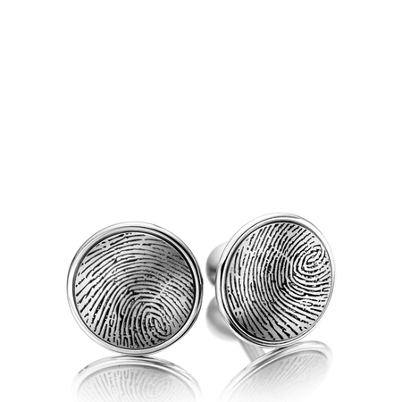 Meister Titanium cufflinks with fingerprint