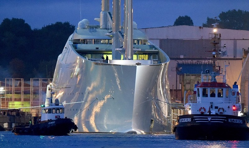 Melnichenko's epic Sailing Yacht A' , the world's biggest sailing ship in 2015