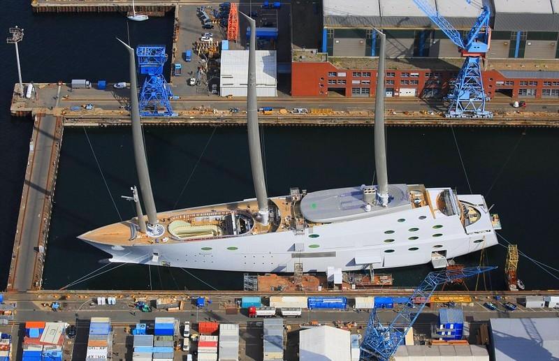 Melnichenko's epic Sailing Yacht A' , the world's biggest sailing ship