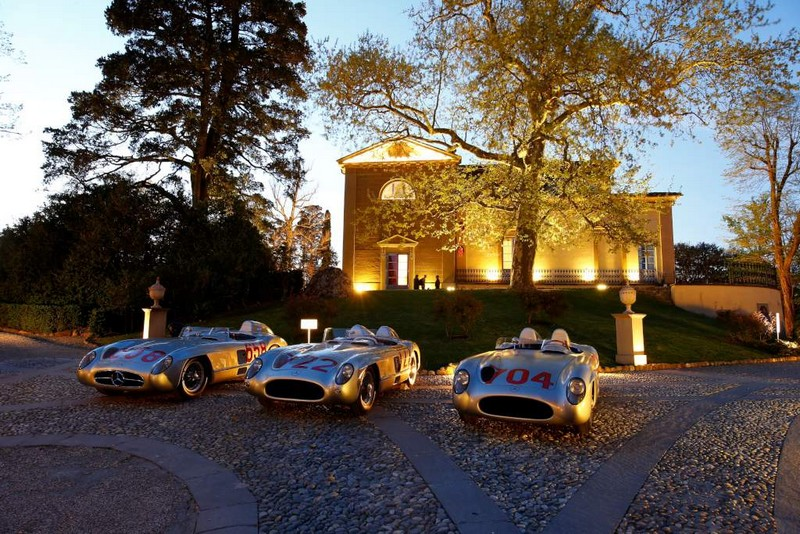 Mercedes-Benz 300 SLR racing sports car W 196 S in 2015, near Florence in Italy