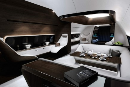 Luxury high above the clouds: take a look at Mercedes-Benz VIP aircraft cabins