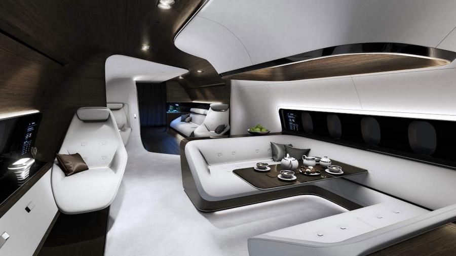 Mercedes-Benz Style Lufthansa Technik VIP cabins-EBACE 2015