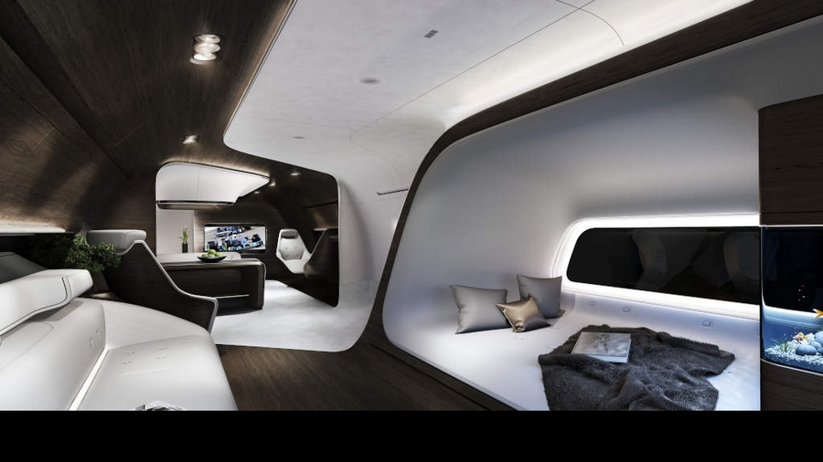 Mercedes-Benz Style Lufthansa Technik VIP cabins-rendering