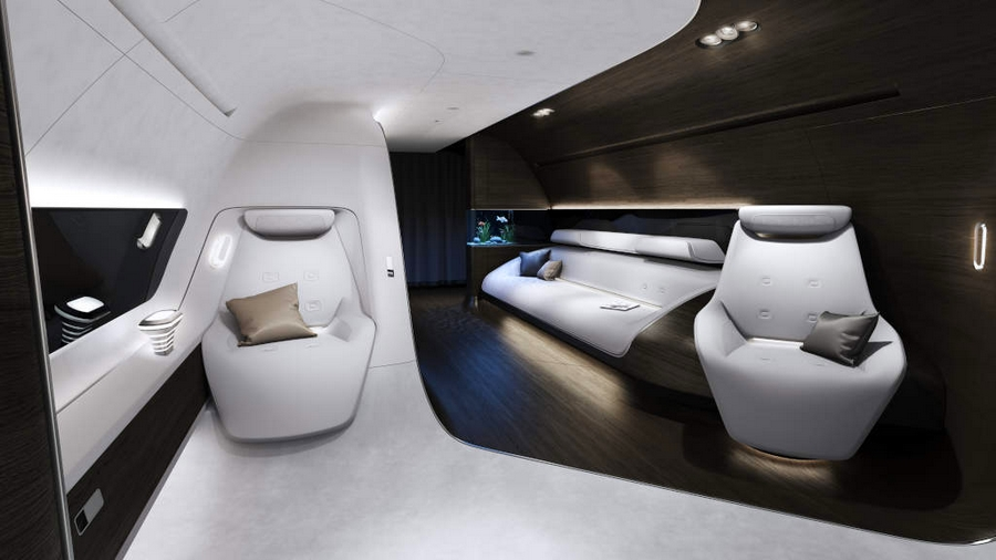 Mercedes-Benz Style and Lufthansa Technik develop VIP cabin for short- and medium-haul aircraft