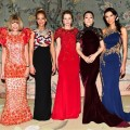 Met Gala Co-Chairs Anna Wintour, Jennifer Lawrence, Gong Li, Marissa Mayer, Gong Li and Wendi Murdoch