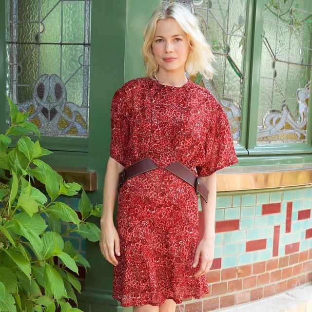 Michelle Williams at the Louis Vuitton Family Home in Asnières for the opening of the Galerie