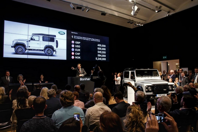 Milestone 'Defender 2,000,000' is the most valuable production Land Rover ever to be sold at auction