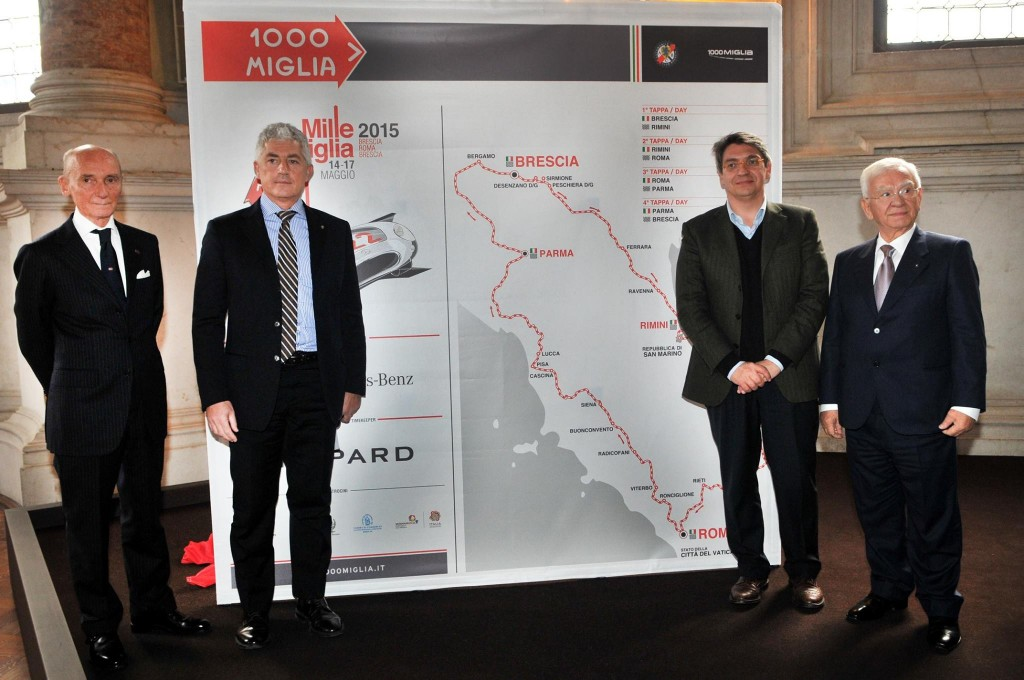 Mille Miglia 2015 - press conference - 2015 route unveiling