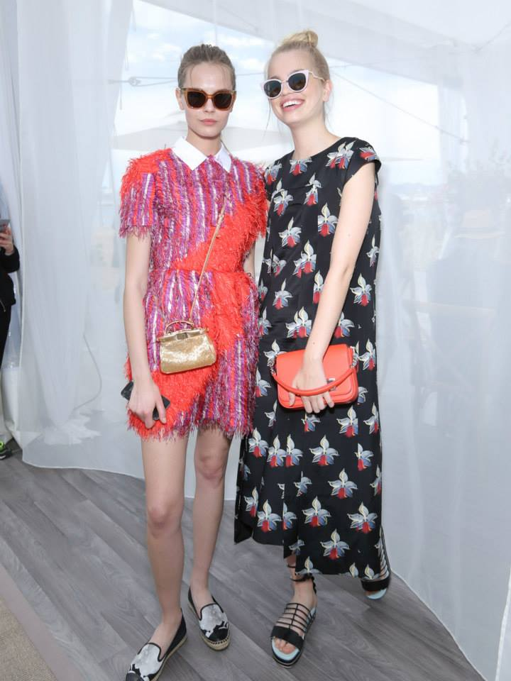 Mina C and Daphne Groeneveld at the 'Fendi by Karl Lagerfeld' book presentation in Cannes