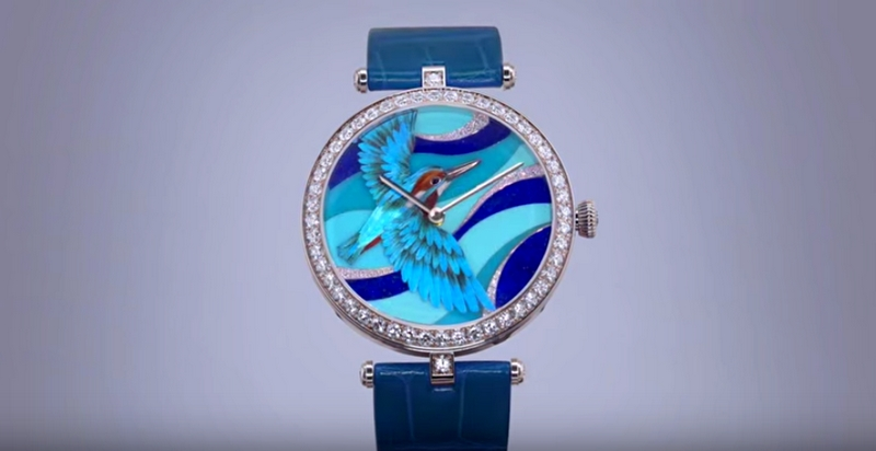 Miniature Feather Art by Van Cleef & Arpels-2015-blue